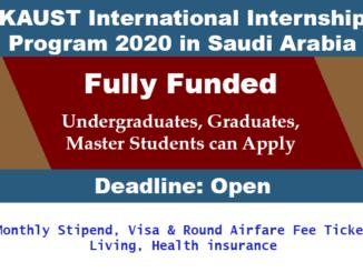 KAUST INTERNSHIP IN SAUDI ARABIA