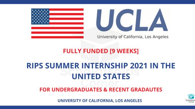 RIPS Summer Internship 2021 in the USA